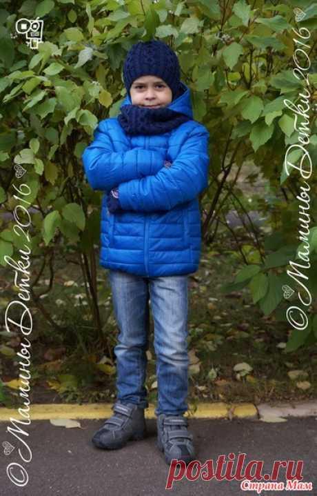 """Комплект для мальчика шапка и снуд спицами """"Осенний""""))) - Вязание - Страна Мам"""