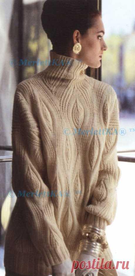 """Пуловер """"Фантазийные листья"""" (Bark) ... от Норы Гоган"""