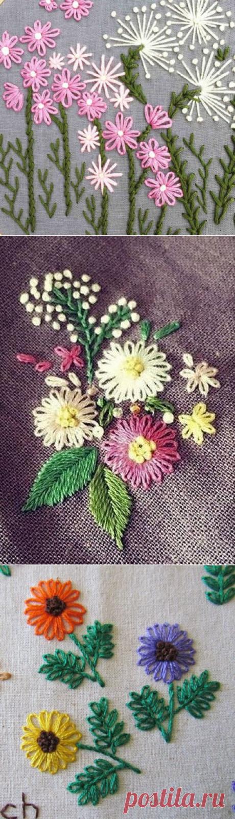 Красивая вышивка из самых простых элементов — Сделай сам, идеи для творчества - DIY Ideas