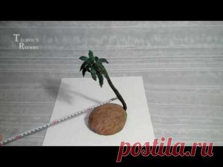 Искусственный бонсай. Пальма из бисера.