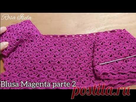 Blusa Magenta parte 2