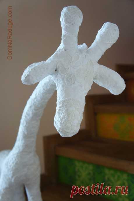 Тот самый Белый Жираф (гипсовые бинты как альтернатива папье-маше) « Дом на Радуге — здесь живёт художник