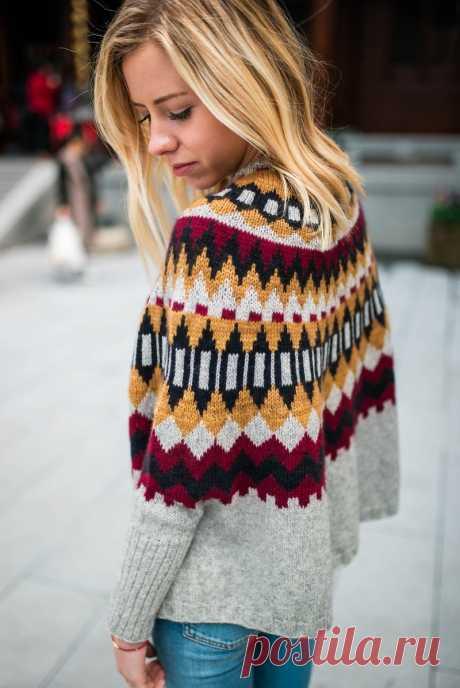 Потрясающий свитер пончо - Ninilchik Swoncho для любой фигуры - Knitting.Klubok.ru.com