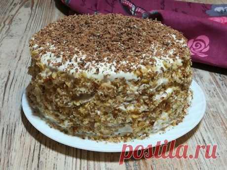 ВКУСНЫЙ ДОМАШНИЙ БИСКВИТНЫЙ ТОРТ НА СКОВОРОДЕ Быстрый и очень вкусный бисквитный торт на сковороде. Ни какой раскатки коржей, никакой духовки!