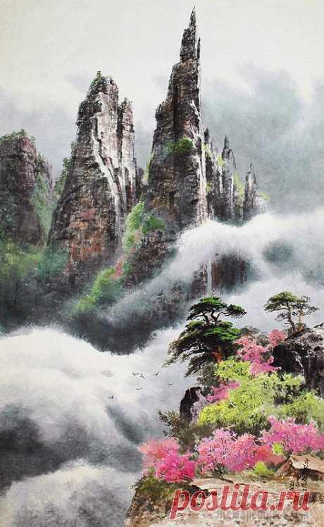 Пейзажи в живописи Сок Неджин - Seok Rye Jin (석례진)