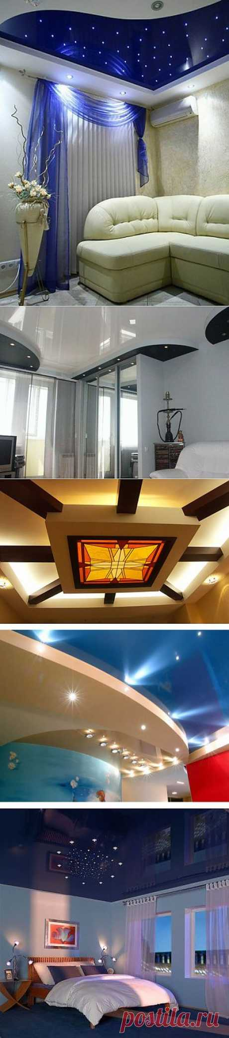 (+1) тема - Способы отделки и дизайна потолков | Интерьер и Дизайн