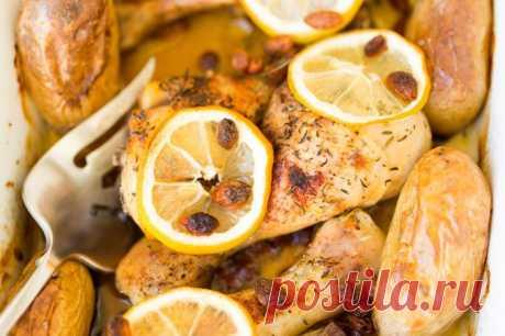 Диетическая курица в духовке – рецепт с лимоном и овощами 🚩 Кулинарные рецепты