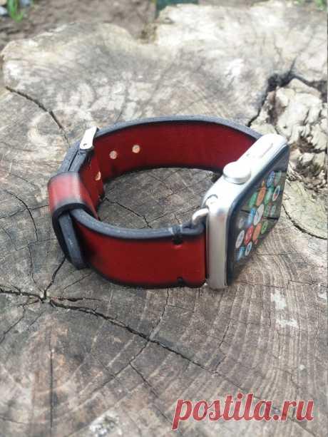 Red Designer Apple Watch Band Women Leather Watch series 1 2 3 Case 42 – GORIANI