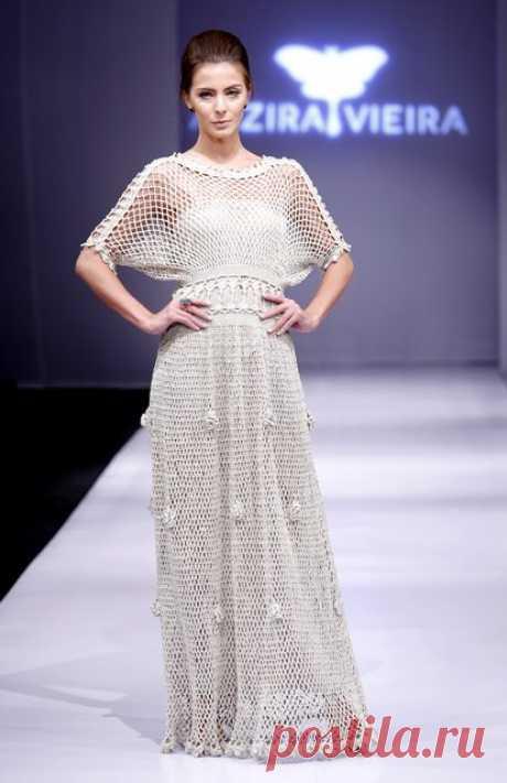 Вязаные крючком платья бразильского дизайнера Алзиры Виейра | razpetelka.ru