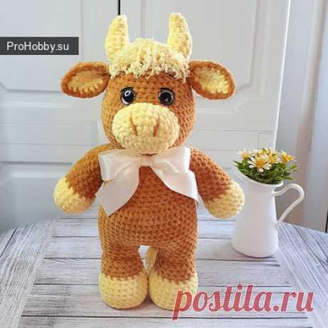 Бычок / Вязание игрушек / ProHobby.su | Вязание игрушек спицами и крючком для начинающих, мастер классы, схемы вязания