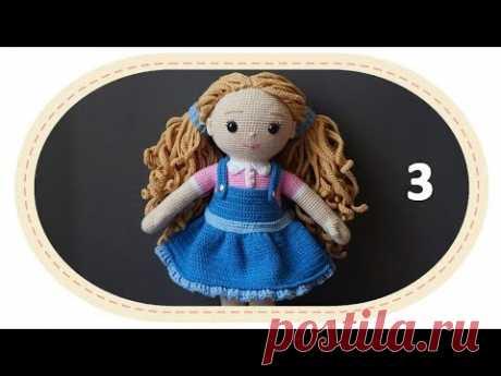 Вязаная кукла крючком Розали, ч.12 (Сарафан, ч.3). Crochet doll Rosalie, p.12 (Sundress, p.3).