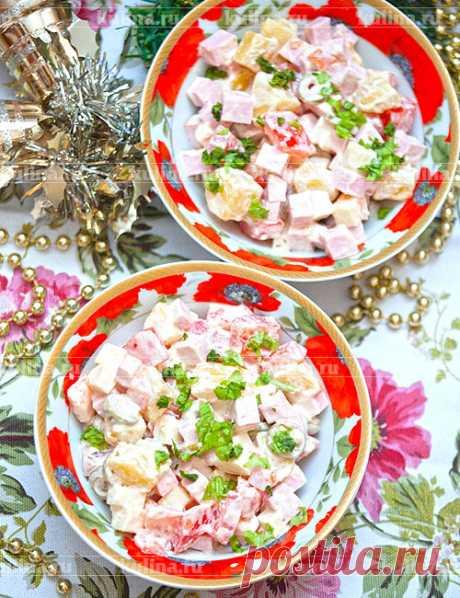 Салат с колбасой и сыром – рецепт приготовления с фото от Kulina.Ru