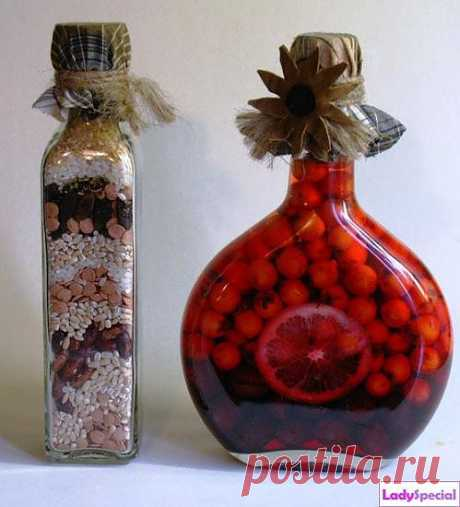 Декорирование бутылок своими руками - Женский журнал LadySpecial.ru