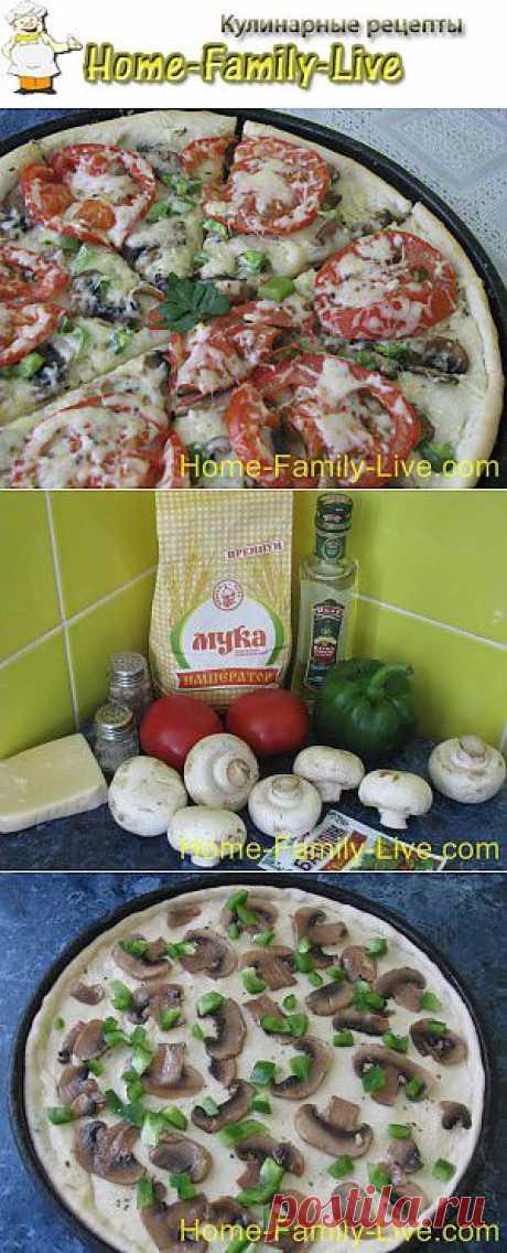 Пицца с грибами - пошаговый фоторецепт грибной пиццы | Кулинарные рецепты