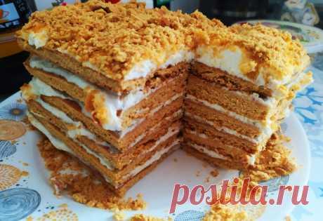 Медовый пух - самый простой и вкусный торт с творогом (мой любимый медовичок)   Домсоветы   Яндекс Дзен