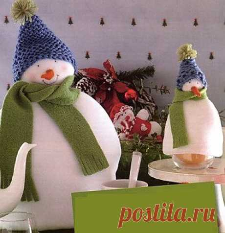 """Грелка на чайник """"Снеговик"""" / новогодние подарки,поделки и костюмы / PassionForum - мастер-классы по рукоделию"""