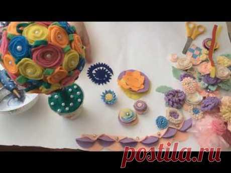 Цветы из фетра и лент своими руками на канале DIY/рукоделие