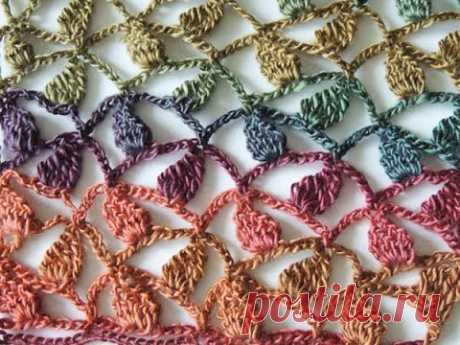 Crochet: Punto Hojuelas