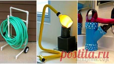 20 alternative ideas how to use PVC pipe not only for repair