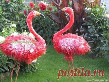 Фламинго для вашего сада своими руками: пошагово | 6 соток
