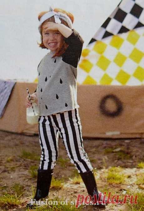 Детский пуловер из трикотажа   Всё о моде, стиле, шитье и рукоделии СЛИЯНИЕ СТИЛЕЙ