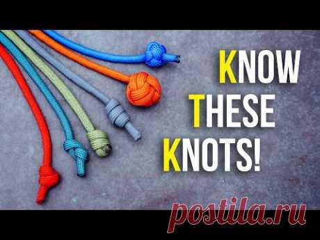 6 однонитевых стопорных узлов, которые вы должны знать!