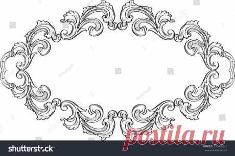 Стоковая векторная графика «Ornate Art Victorian Fine Greeting Page» (без лицензионных платежей), 320456012: Shutterstock
