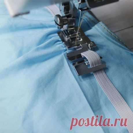 Использование лапки для комфортного вшивания резинки