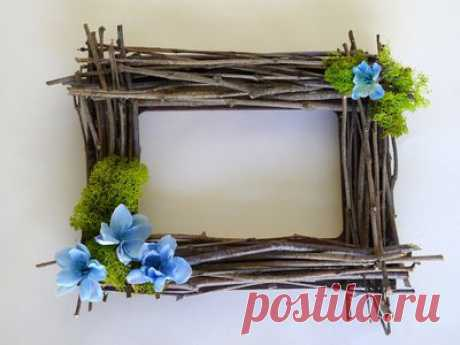 DIY Rustic Twig Frame (with Pictures)   eHow