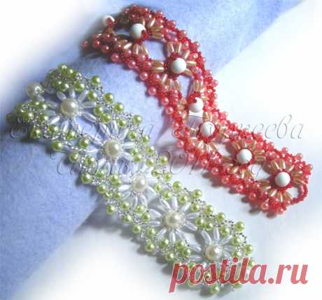 Плетение ажурного цветочного браслета: мастер-класс — DIYIdeas