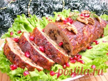 Мясной рулет универсальное блюдо на праздничный стол! — Кулинарная книга - рецепты с фото