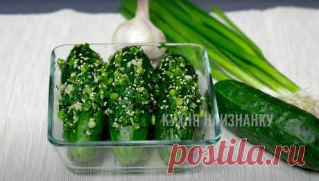 Необычная закуска из обычных огурцов вместо надоевших малосольных салатов: готовится быстро, получается вкусно | Кухня наизнанку | Яндекс Дзен
