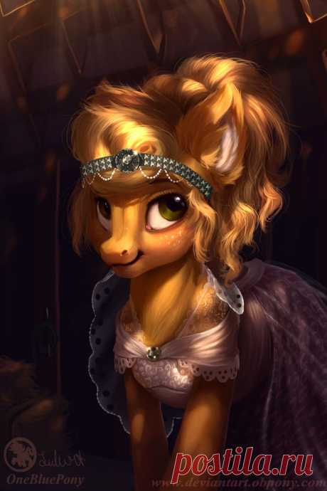 Applejack - Like a bride by LuleMT