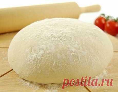 Тесто для пиццы на сухих дрожжах и оливковом масле рецепт с фото пошагово - 1000.menu