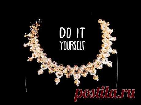 Колье из Бисера и Бусин Своими Руками / Beaded Necklace DIY / Ожерелье из бисера и ронделей