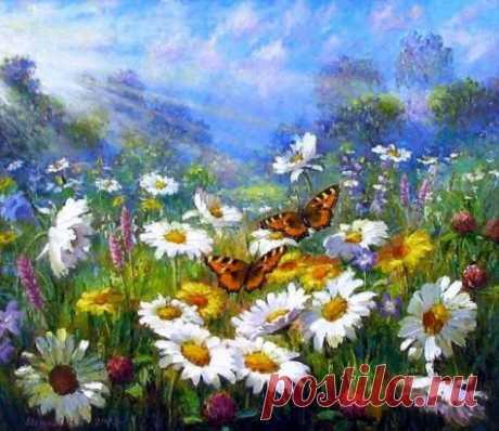 """""""Если голубые небеса наполняют вас радостью, если стебель полевой травы не оставляет вас равнодушным, если простые картины природы говорят с вами на понятном языке. Радуйтесь! Это значит, что ваша душа ЖИВА..."""" -  Винсент Ван Гог."""