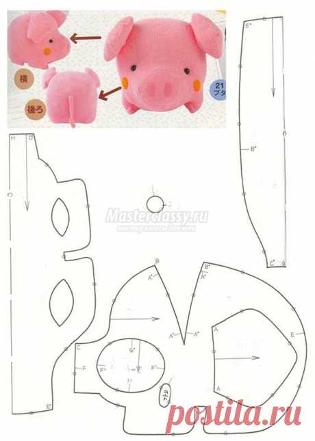 Выкройка поросенка: как сшить свинку? Шьем символ года 2019. Лучшие идеи с фото!
