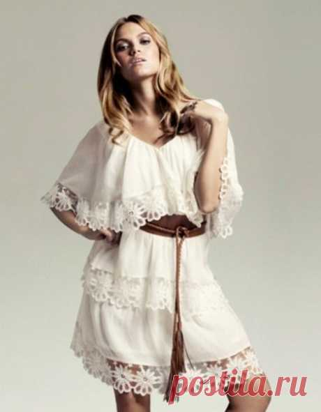 Платья в стиле бохо: вечерние и свадебные, летние, льняные и вязаные, для полных