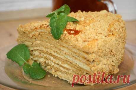 Медовый торт со сливочно-карамельным кремом. Этот рецепт я нахожу самым удачным | Скоро ягодка опять | Яндекс Дзен