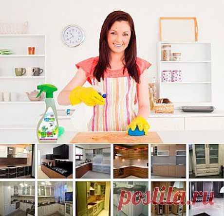 Чем почистить кухонную мебель?.