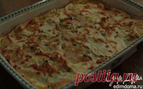 Лазанья с грибами, козьим сыром и шпинатом | Кулинарные рецепты от «Едим дома!»