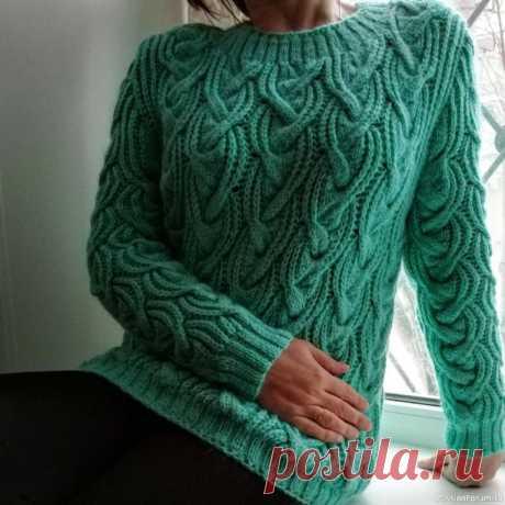 Красивый и необычный узор для свитера. Схема | Вязание спицами для начинающих
