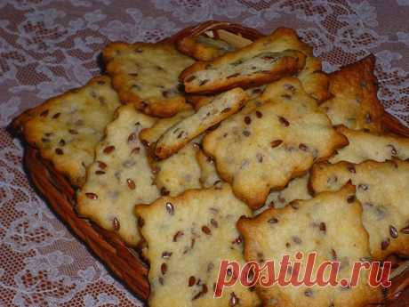Галетное печенье с семенами льна   Poperchi.Ru   Яндекс Дзен