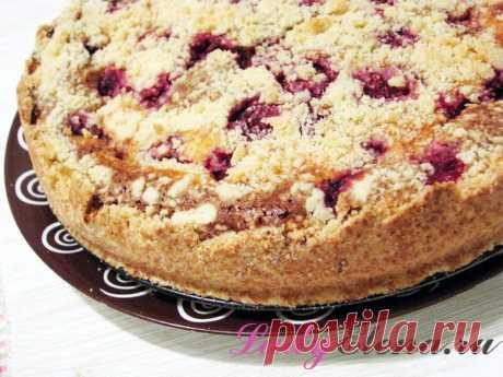 El pastel de arena con el requesón y la guinda – poshagovyy la foto la receta