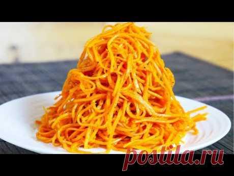 Восхитительная и всеми любимая морковка по-корейски уместна и на праздничном столе, и на повседневном. Рецептов ее приготовления - великое множество. Мы предлагаем такой вариант.  Ингредиенты  Морковь свежая - 1 кг Сахар - 2-3 ст. ложки Соль - 1 ст. ложка с горкой Масло подсолнечное - 1/2 стакана Перец черный - 1/2 ч.л. Перец красный острый - 1/2 ч.л. Паприка - 1 ч.л. Кориандр молотый - 1 ч.л. Чеснок - 3 зубчика Уксус 9% - 3 ст.л.