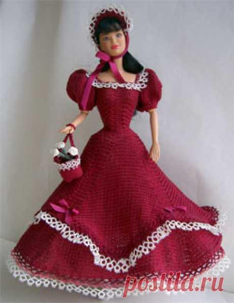 Схемы вязания: Вязаная Одежда Крючком Для Барби