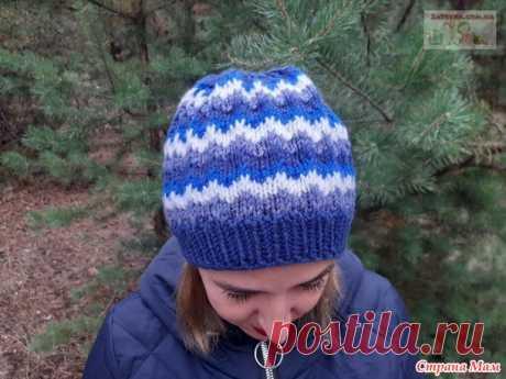 Женская шапка узором «Ленивый жаккард» - Вязание - Страна Мам