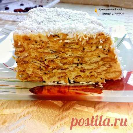 Желейный торт с крекера и сметаны