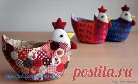 Шьем пасхальную корзинку КУРОЧКУ  Фото мастер-класс по пошиву пасхальной корзинки в виде курочки
