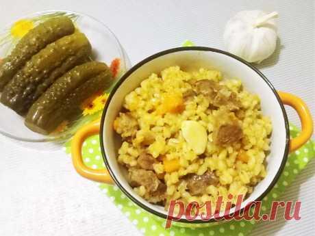 Плов из перловки и говядины - рецепт с фото пошагово